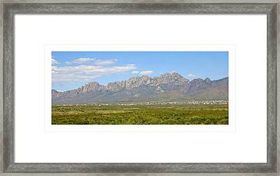 The Organ Mountains Framed Print