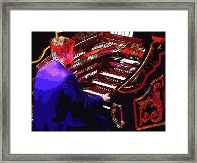 The Organ Player Framed Print