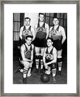 The Original Celtics Team Framed Print