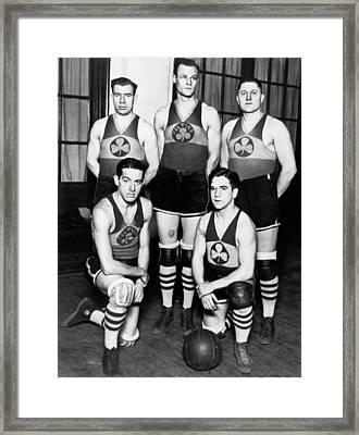 The Original Celtics Team Framed Print by Underwood Archives