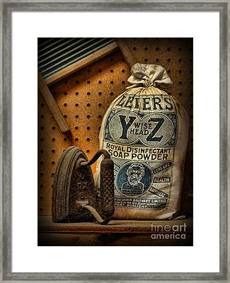 The Original Laundromat - Self-service Soap Powder Framed Print