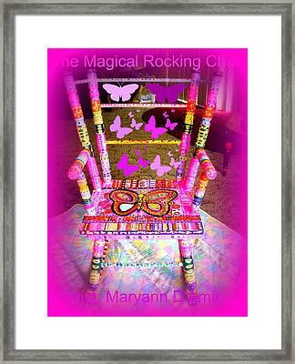 The  Original Magical Rocking Chair Framed Print by Maryann  DAmico