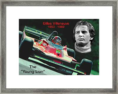 The Original Young Lion Framed Print by Mike Flynn