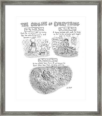 'the Origins Of Everything' Framed Print