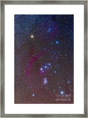 The Orion Constellation Framed Print by Alan Dyer