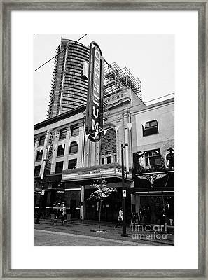 the orpheum theatre home of the vancouver symphony Vancouver BC Canada Framed Print