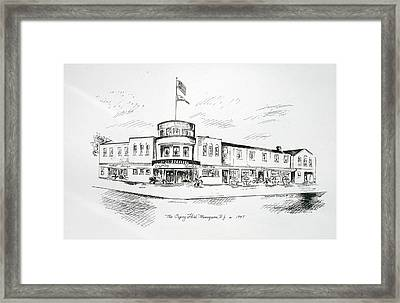 The Osprey In Manasquan Nj Framed Print