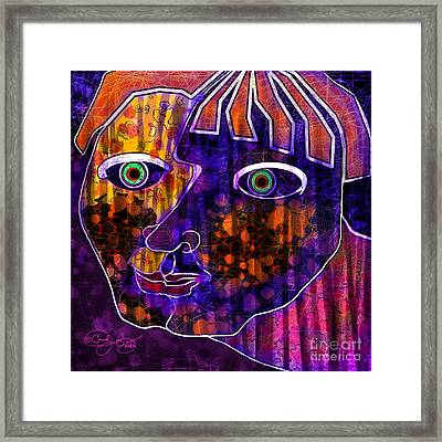 The Other Cheek Framed Print