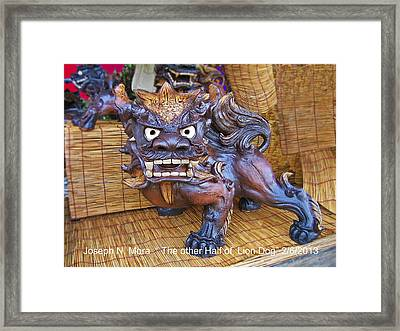 The Other Half Of Lion Dog Framed Print