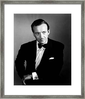 The Other Love, David Niven, 1947 Framed Print by Everett