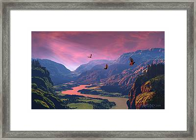 The Other Side Framed Print by Dieter Carlton