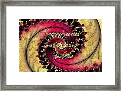 The Other Side Of Fear Framed Print by Lea Wiggins