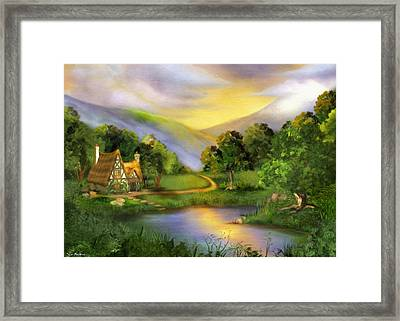 The Other Side Of Oz Framed Print by Tyler Robbins