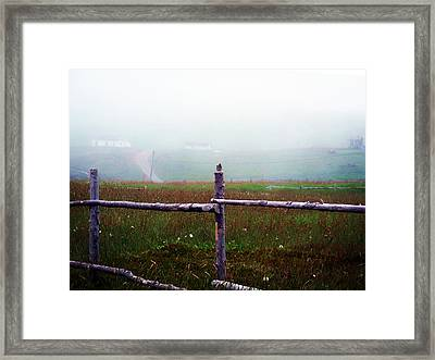 The Other Side Of The Field Framed Print by Zinvolle Art
