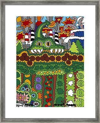 The Other Side Of The Garden  Framed Print by Rojax Art
