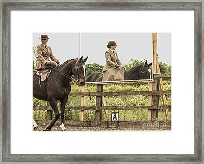 The Other Side Of The Saddle Framed Print