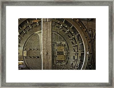 The Other Side Of The Vault Door Framed Print by Image Takers Photography LLC - Carol Haddon