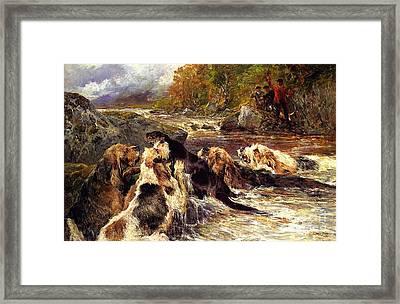 The Otter Hunt Framed Print by Celestial Images