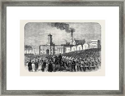 The Outbreak Among The Convicts At Chatham St Framed Print
