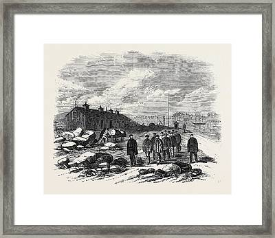 The Outbreak Among The Convicts At Chatham The Mess House St Framed Print
