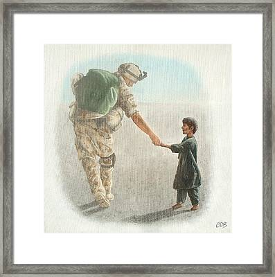 The Outcome Of War Is In Our Hands Framed Print by Conor OBrien