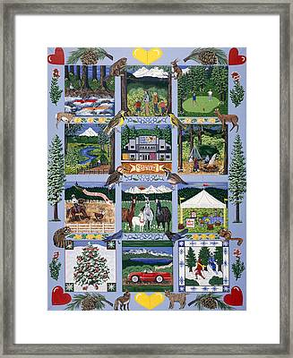 Framed Print featuring the painting The Outdoor Quilt by Jennifer Lake