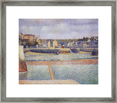 The Outer Harbor Framed Print by Georges Seurat