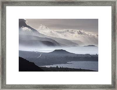 The Outer Mani Coastline Framed Print by Peter Eastland
