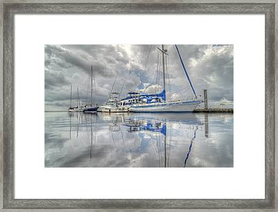 The Outer Pier Framed Print by John Adams