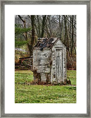 The Outhouse - 3 Framed Print