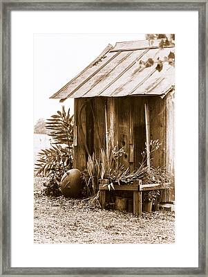 The Outhouse Framed Print by Carolyn Marshall