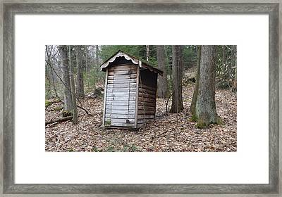 The Outhouse Framed Print by Michael Sokalski
