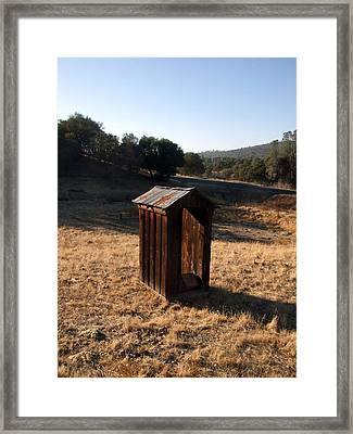 The Outhouse Framed Print by Richard Reeve