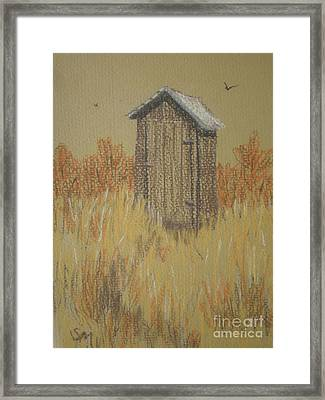 Framed Print featuring the painting The Outhouse by Suzanne McKay