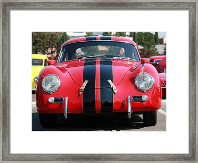Framed Print featuring the photograph The Outlaw 356 Porsche by Rita Kay Adams