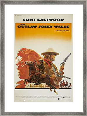 The Outlaw Josey Wales, Us Poster Framed Print by Everett