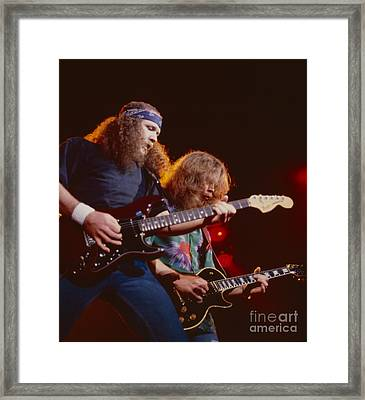 The Outlaws - Hughie Thomasson And Billy Jones Framed Print