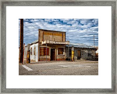 The Outpost Darwin Ca Framed Print by Troy Montemayor