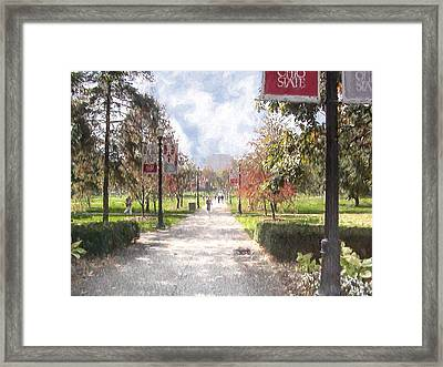 The Oval At Ohio State Framed Print
