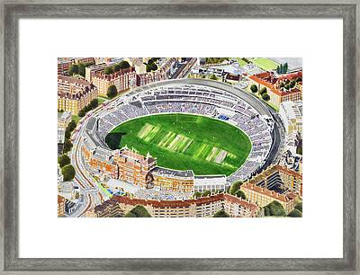 The Oval Cricket Stadia Art - Surrey Cricket Club And England Framed Print by Brian Casey