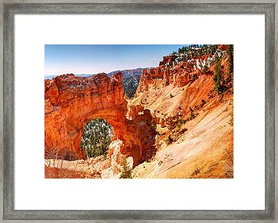 The Overlook - Bryce Canyon - Utah Framed Print by Gregory Ballos