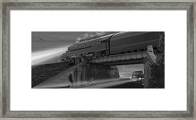 The Overpass 2 Panoramic Framed Print by Mike McGlothlen