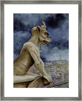 The Overseer Framed Print by Sam Sidders