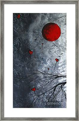 The Overseers 1 Of 2 Whimsical Crow Moon Heart Painting By Megan Duncanson Framed Print