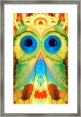 The Owl - Abstract Bird Art By Sharon Cummings Framed Print by Sharon Cummings