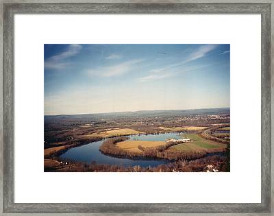 The Oxbow Framed Print by David Fiske