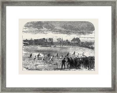 The Oxford And Cambridge Athletic Sports In The Christ Framed Print