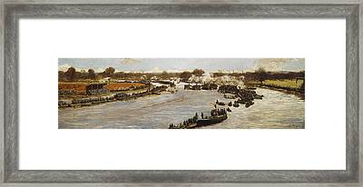 The Oxford And Cambridge Boat Race Framed Print by James Macbeth