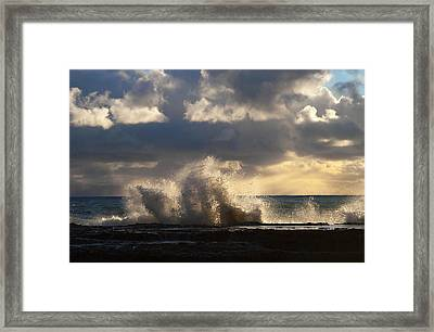 The Pacific Calms Down Framed Print by Joe Schofield