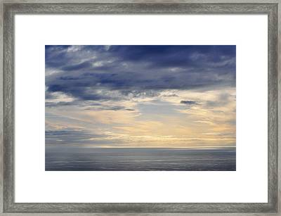Framed Print featuring the photograph The Pacific Coast by Kyle Hanson